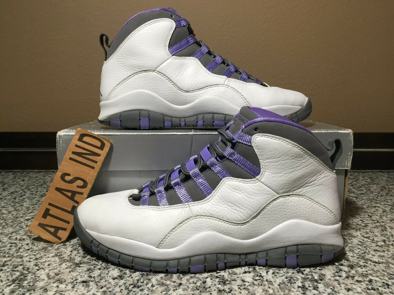 AIR JORDAN 10 RETRO Violet White Purple Nike X 1 3 4 5 6 11 12 OVO DB 2018 9 7.5