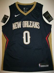 best service 9e3c6 90d12 Image is loading DeMarcus-Cousins-New-Orleans-Pelican-Navy-Blue-Nike-