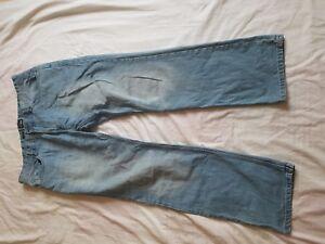 36 32 Taglia scolorito blu Easy Jeans Waist Mens Bootcut Gamba XYqpfRz