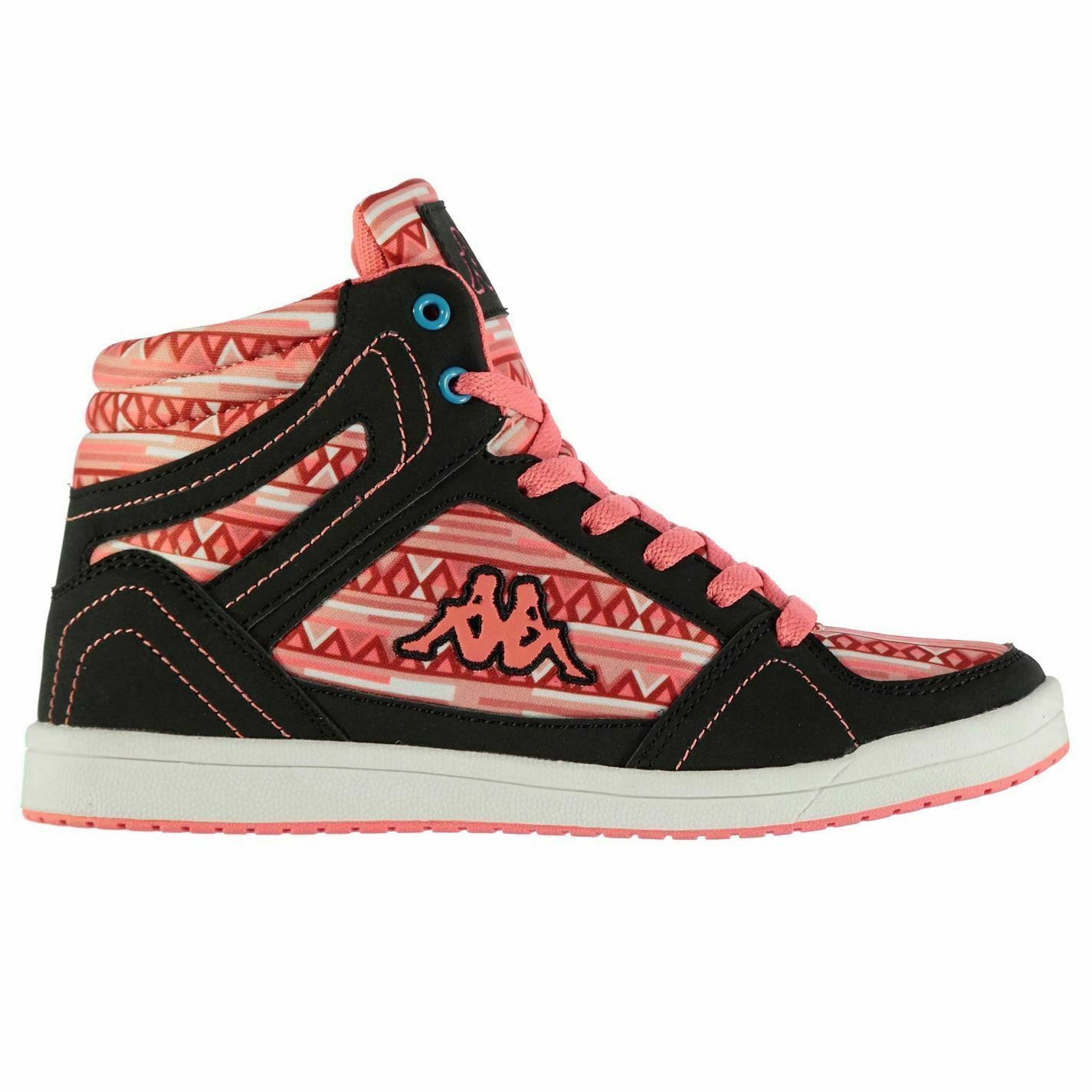 Kappa Coleos 7 Hi Top Trainers Womens Pink Navy Sports Trainers Sneakers