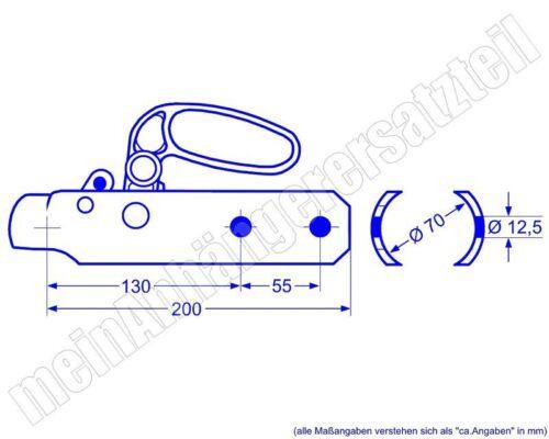 Rockinger Zugkugelkupplung Anhängerkupplung für DDR Anhänger KK92A 70mm Ausf A