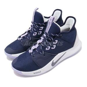 best loved 98be1 a7514 Details about Nike PG 3 EP Paul George III Paulette Navy Purple Men  Basketball Shoe AO2608-901