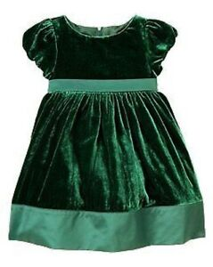 Celebrations green velveteen dressy dress 3 6 12 18 2 3 4 5 nwt ebay