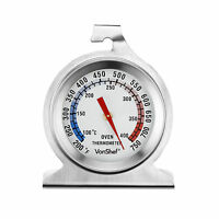VonShef Stainless Steel Cooker Oven Thermometer Free Standing Hanging Gauge
