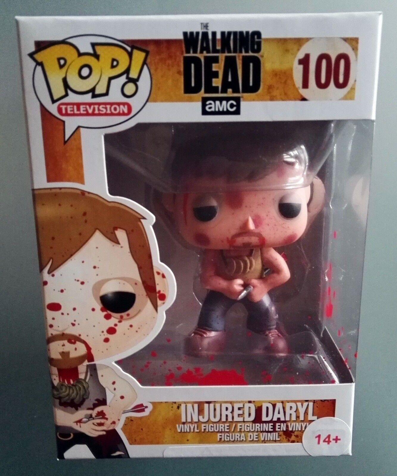 Funko Pop The Walking Dead Daryl Dixon INJUROT BLOOD SPLATTER SERIE TV FIGURE