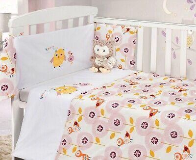 Owl Pink Tweet Twoo Cotton Nursery, Owl Nursery Bedding Yellow