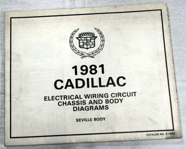 1981 Cadillac Seville Body Foldout Wiring Circuit Diagrams Oem