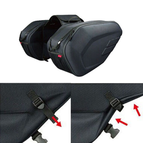 Universal fit Motorcycle Pannier Bags Luggage Saddle Bags with Rain Cover 36-58L