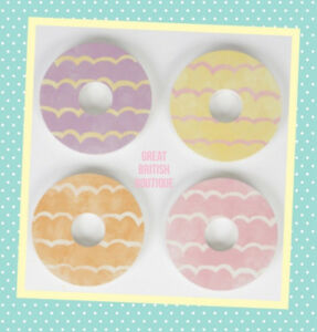 Fun-Retro-Sass-amp-Belle-034-Celebration-034-Iced-Biscuit-Coasters-Set-of-4