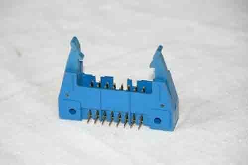 3 x T&B 16 pins IDC ribbon male 90 deg socket pcb soldered Right Connector 2.54