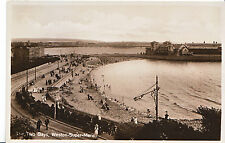 Somerset Postcard - Two Bays - Weston-super-Mare - Real Photograph    E27