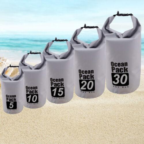New Outdoor Backpack Kayak Ocean Pack Waterproof Dry Bag Sack Multi Color 5-30L