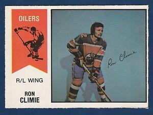 RON CLIMIE 74-75 WHA O-PEE-CHEE WHA 1974-75 NO 15 NRMINT+  22019