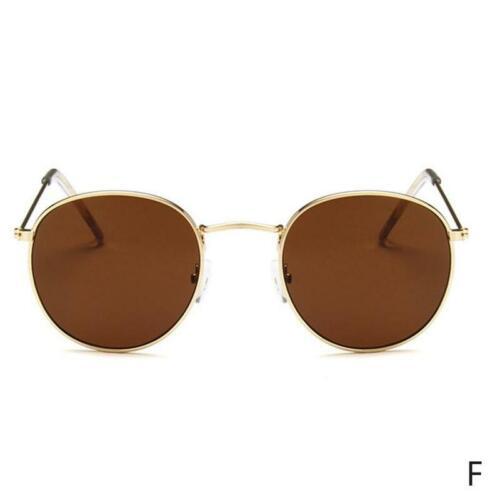 Mode übergroße runde Sonnenbrille Vintage Retro Spiegel Brille runden Rahmen