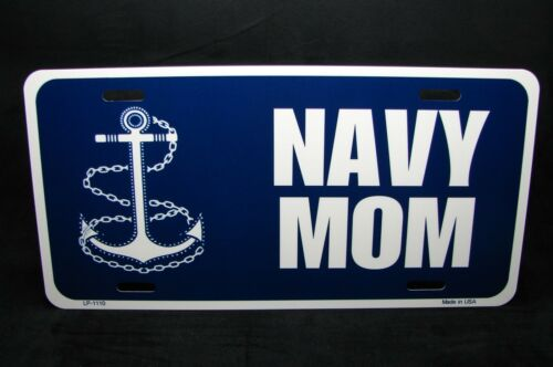 NAVY MOM METAL NOVELTY LICENSE PLATE TAG FOR CARS SIGN