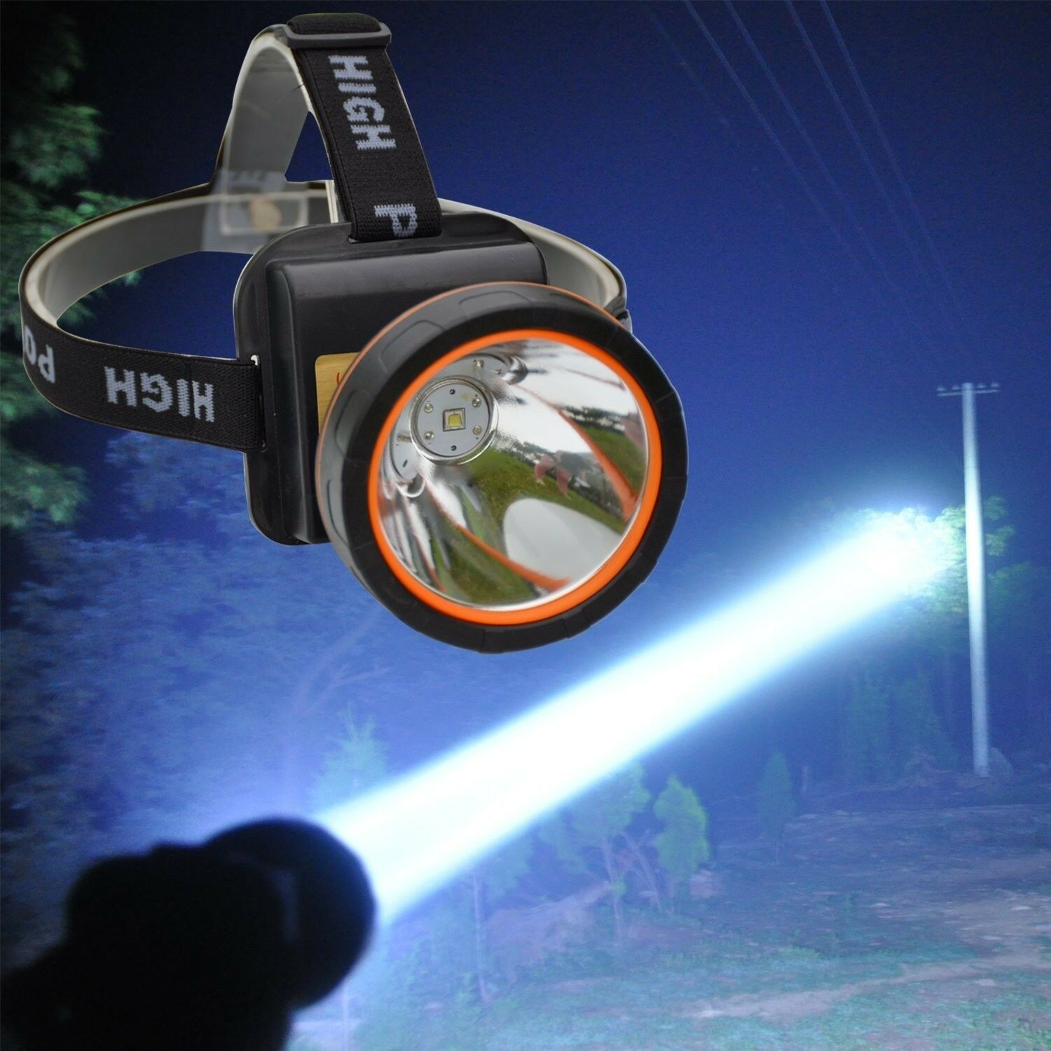 Rechargeable LED Headlamp Torch Outdoor Headlight  For Camping Hunting Fishing  large discount