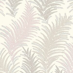 new orleans silver and grey fern leaf wallpaper silver sparkle