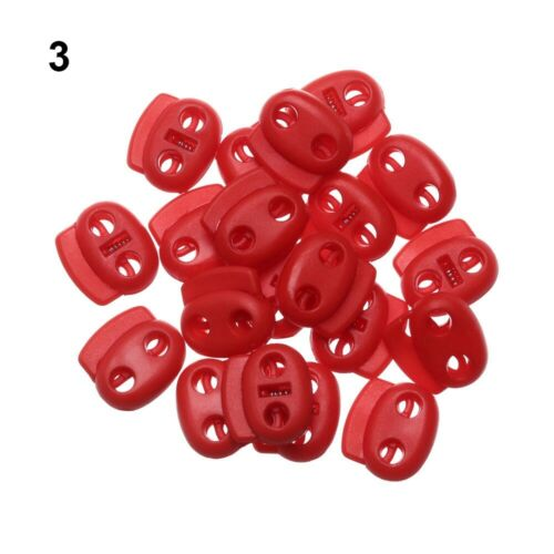 Holes 4mm Hole Cord Lock Bean Apparel Shoelace Toggle Clip Plastic Stopper