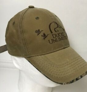 Ducks Unlimited Cap Baseball Camo Hat Embroidered Worn Trashed Ebay