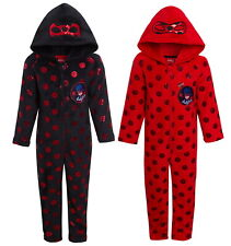 Girls Miraculous Ladybug Dress Up All In One Kids Luxury Fleece Sleepsuit Pjs