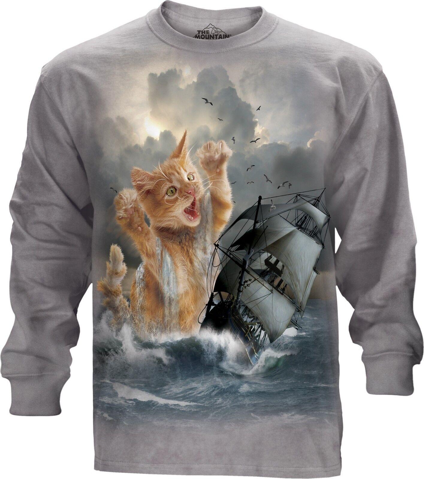 La MONTAGNA gatto adulto krakitten Uomo maniche lunghe T Shirt