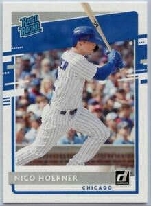 2020 Donruss Baseball Nico Hoerner RATED ROOKIE Card #38 Chicago Cubs