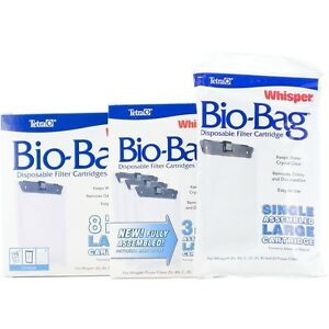 Details About Tetra Whisper Bio Bag Disposable Filter Cartridges Available In 7 Sizes