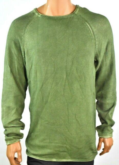 Buffalo David Bitton Mens Sweater New XL Green Long Sleeves Pullover Winter