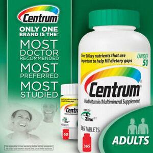 425-Tablet-Centrum-365-60-2-Bottles-Multi-Vitamin-For-Men-amp-Women-under-50