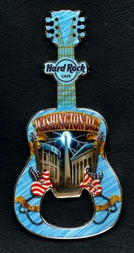 Hard Rock Cafe WASHINGTON D.C. Bottle Opener Guitar Magnet. 2013