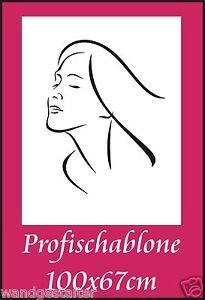 Wandschablone-Wandschablonen-Malerschablonen-Modernart-Frauengesicht-1