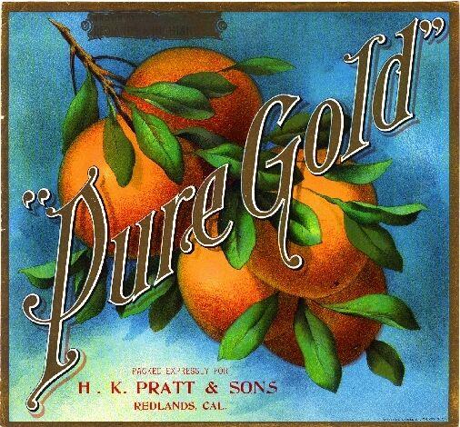 Highland San Bernardino County Blue Moon Orange Citrus Fruit Crate Label Print