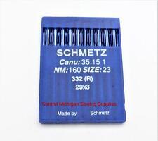 SCHMEZT NEEDLES PACK OF TEN 29x3 SIZE 23 160/23 SINGER MODEL 29K