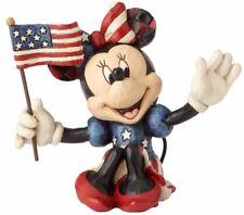 Jim Shore Disney Mini Patriotic Minnie Mouse with USA Flag Figurine 4056744 New