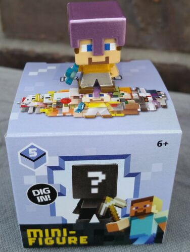 Steve with Mismatched Armor Newly Deboxed Minecraft Mini-figure ICE Series 5