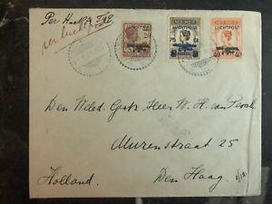 1928 Niederlande Indies Abdeckung zu Haag Holland Luftpost Klm