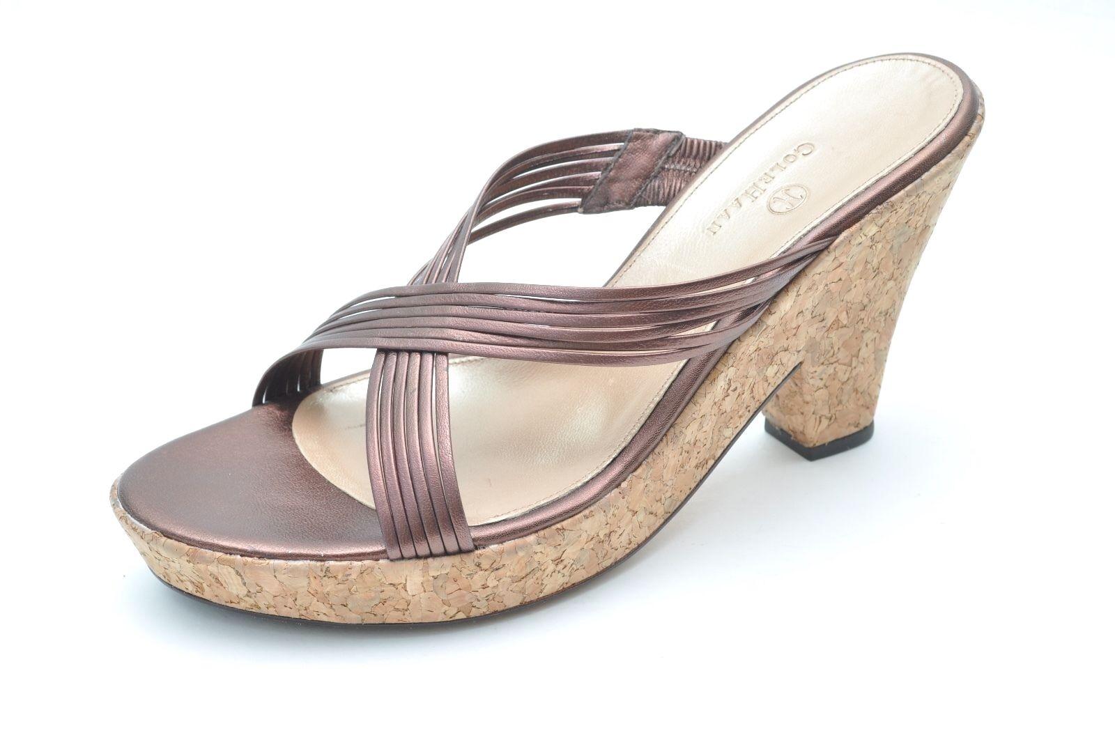 Cole Haan CARLEIGH Heels Metallic Copper Braun Slides Heels CARLEIGH Sandales Damenschuhe 10 - NEW 40036c