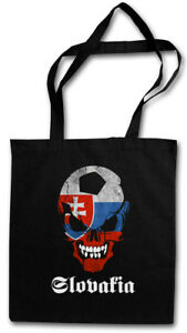 SLOWAKIA FOOTBALL SOCCER SKULL FLAG STOFFTASCHE Fan Hooligan Slowakai Fußball