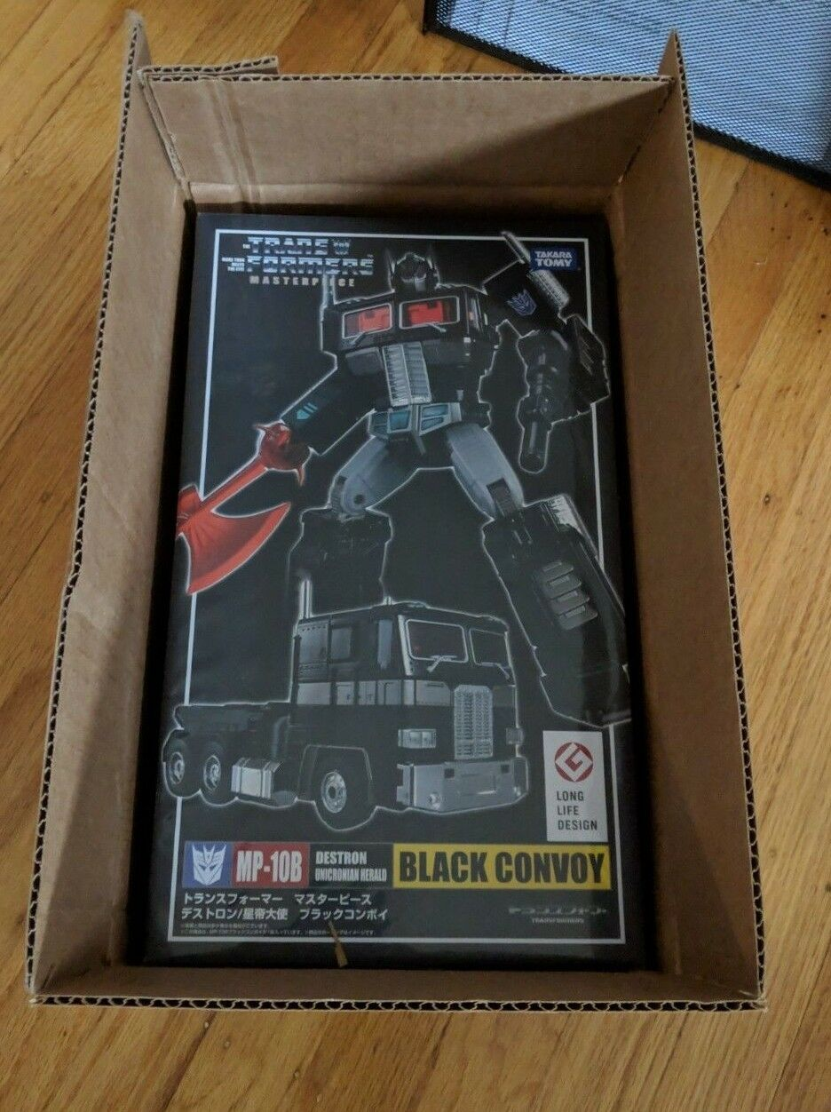 Transformers Masterpiece MP-10B Negro Convoy Takara Japón grado colector Menta en Caja Sellada