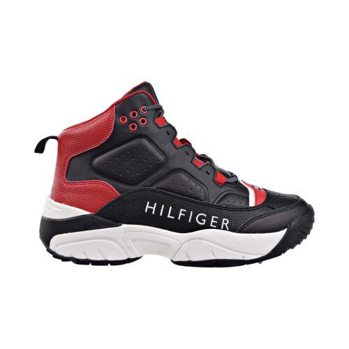 Tommy Hilfiger Davos Men/'s Shoes Black-Red-White TMDAVOS-BLACK