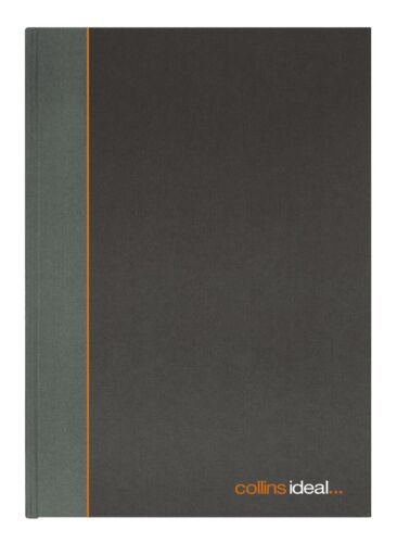 Black Collins Ideal 192 Pages A5 Cashbook  Casebound  Double Cash