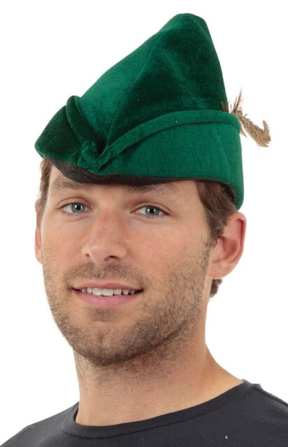 Mens Deluxe Robin Hood Medieval Fancy Dress Costume Adult Outfit /& Hat