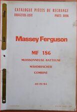 Massey Ferguson Mähdrescher MF 186 Ersatzteilliste