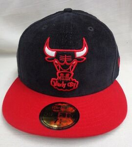bd9daf5b7ef Chicago Bulls Windy City Mens Corduroy New Era 59Fifty 7 1 4 Cap Hat ...