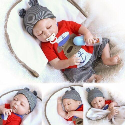 22/'/' Lifelike Newborn Babies Silicone Vinyl Reborn Baby Dolls Handmade CN