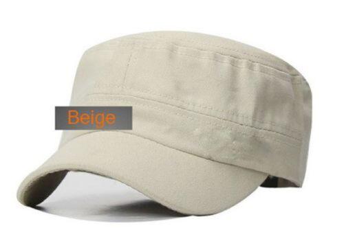 Unisex Men Pretty Unique Style  Plain Vintage Army Military Cadet Cotton Cap Hat