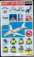 SWISSAIR AIRBUS A320 AIRCRAFT SAFETY CARD - 1997