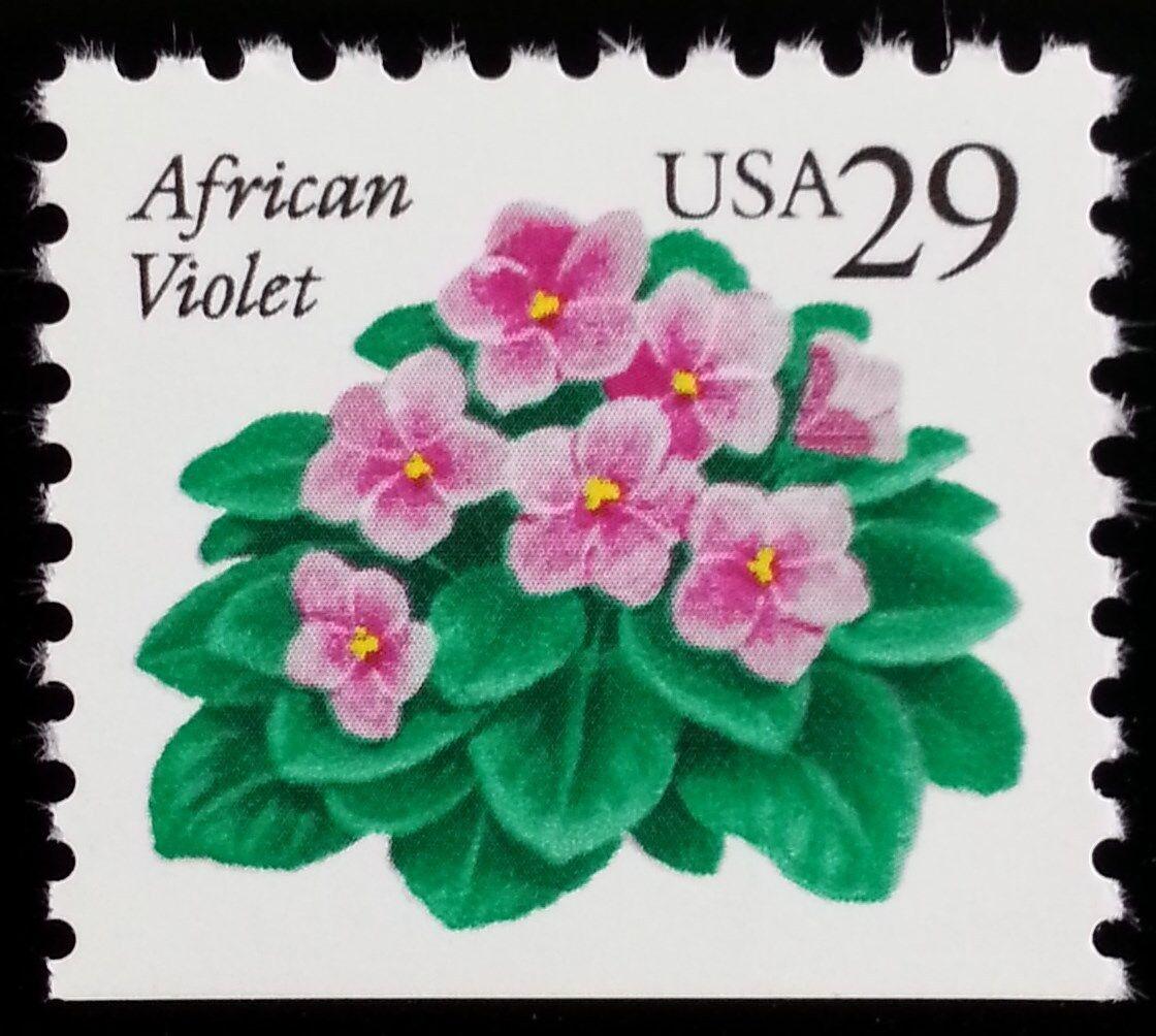 1991 29c African Violet, Booklet Single Scott 2486 Mint