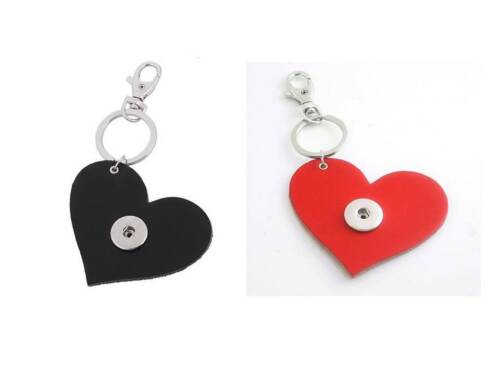 4 Different Colors FREE PP Noosa Style Heart Shaped Leather Keyring