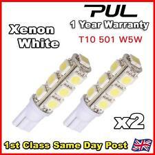 2x T10 W5W 501 13 SMD 5050 LED Xenon White Car Wedge Side Light Lamp Bulb 12V